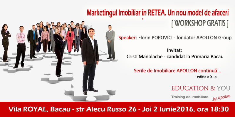Serile Imobiliare APOLLONS ed.XI-a – Workshop: Marketingul Imobiliar in Retea