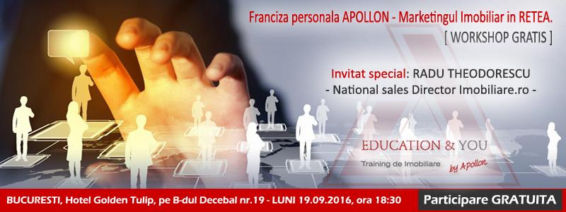 Workshop: Franciza Personala Apollons – Marketing Imobiliar in RETEA